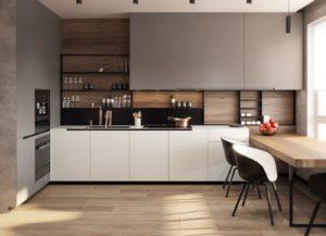 Ультрасовременная кухня с матовыми фасадами