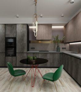 Серо-древесная кухня 2