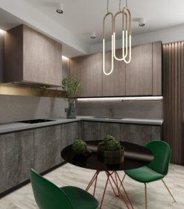 Серо-древесная кухня 3