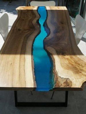 стол из слэба со смолой 2