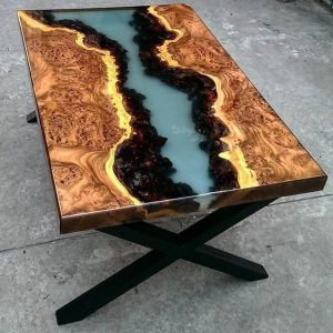 стол из слэба со смолой 3